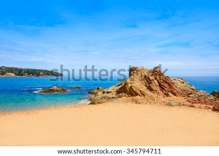 Costa Brava beach Lloret de Mar in Catalonia at Spain