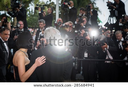 Costa-Gavras. Opening Ceremony 'La Tete Haute' Premiere. 68th Annual Cannes Film Festival at Palais des Festivals on May 13, 2015 in Cannes, France. - stock photo
