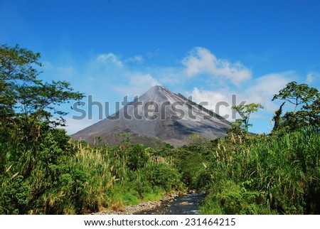 "Costa Rica ""Arenal"" Volcano - stock photo"