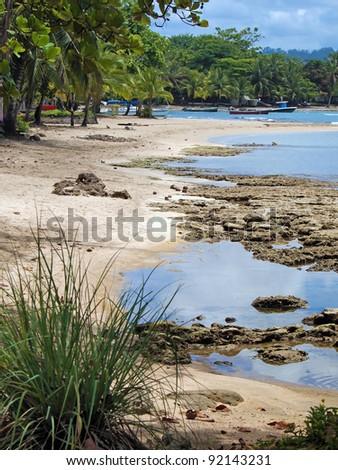 Costa Rica beach of the Caribbean coast in Puerto Viejo de Talamanca - stock photo