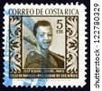 COSTA RICA - CIRCA 1959: a stamp printed in Costa Rica shows Boy, Painting by Jose Ribera, circa 1959 - stock photo