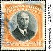 COSTA RICA - CIRCA 1926: A stamp printed in Costa Rica shows Romualdo Ricardo Jimenez Oreamuno -  president of Costa Rica, circa 1926 - stock photo