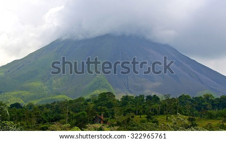 Costa rica tropical volcano