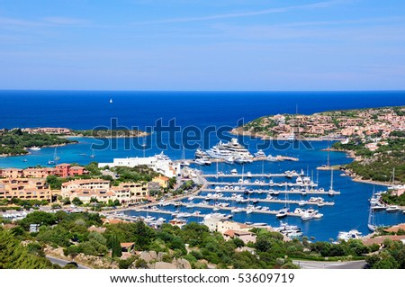 Costa Smeralda Harbour - stock photo
