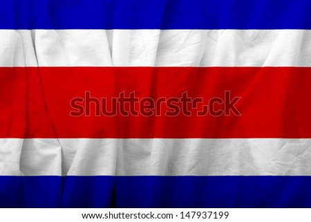 Costar Rica Flag - stock photo