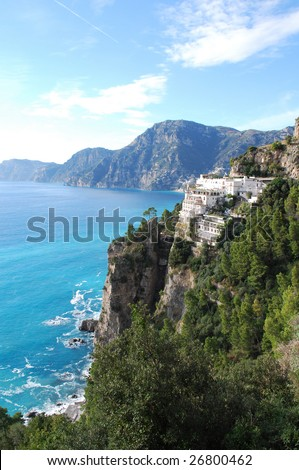 Costiera Amalfitana (Amalfi Coast) on the Sorrentine Peninsula, Near Positano Salerno, Campania, Italy - stock photo