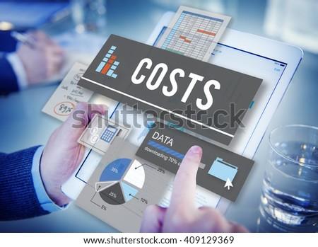 Costs Budget Money Finance Cash Flow Concept - stock photo