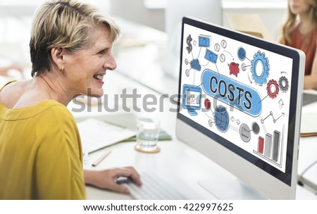Costs Expenditures Finance Budget Bookkeeping Concept - stock photo