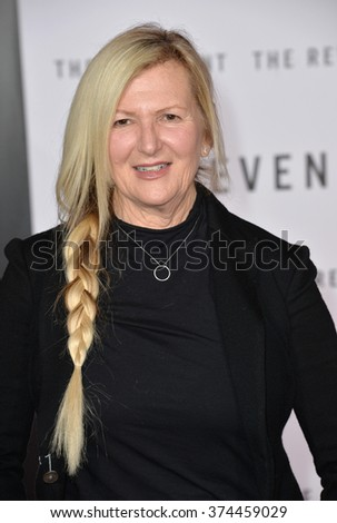 """Costume designer Jacqueline West at the Los Angeles premiere of her movie """"The Revenant"""" at the TCL Chinese Theatre, Hollywood. December 16, 2015  Los Angeles, CAPicture: Paul Smith / Featureflash - stock photo"""