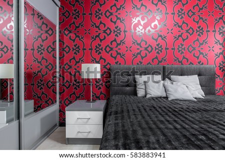 Bedroom Wallpaper Stock Images RoyaltyFree Images Vectors - Bedroom wallpaper