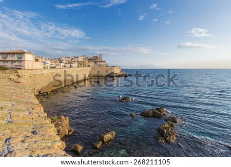 Cote d'Azur Antibes city - stock photo