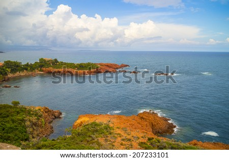 Cote d'Azur in France - stock photo
