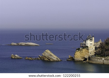Cote des Basques, Biarritz, France - stock photo