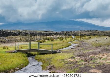 Cotopaxi National Park in Ecuador - stock photo