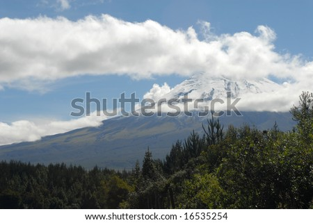 Cotopaxi volcano, Ecuador. Situated in the avenue of volcanoes.