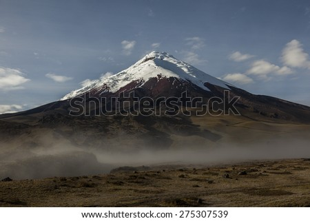 Cotopaxi volcano is the main attraction of the same name National Park, Ecuador - stock photo