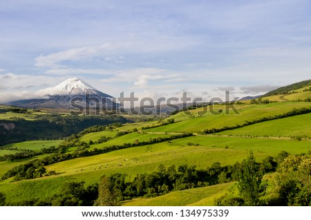 Cotopaxi volcano landscape, Ecuador. - stock photo