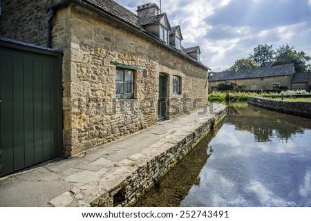 cotswolds village - stock photo