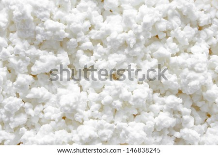 Cottage cheese background - stock photo