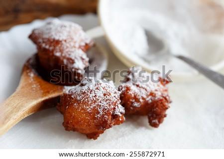 Cottage cheese balls - stock photo