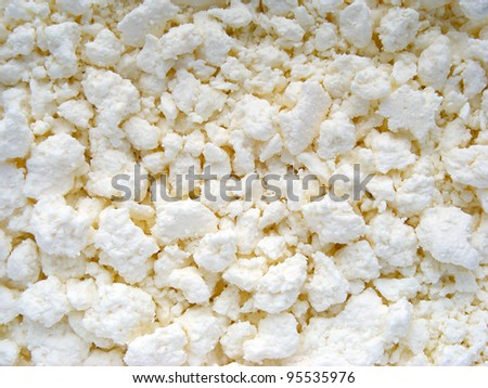 Cottage cheese. Food background.