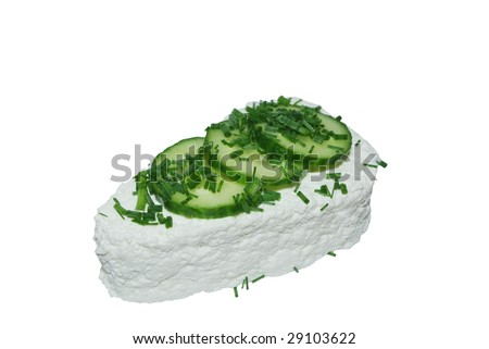 cottage cheese from chives  and cucumber
