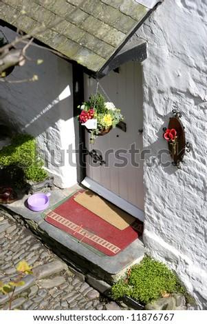 Cottage door - stock photo