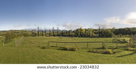 cottage garden brecon beacons national park powys wales uk - stock photo