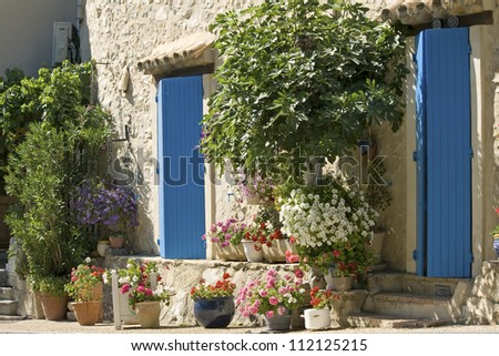 Cottage, house in French Village. Provence. France. - stock photo