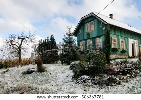 cottage in the winter