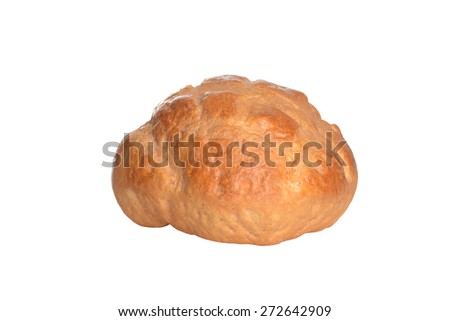 cottage loaf of bread - stock photo