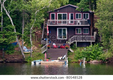Cottage on the water