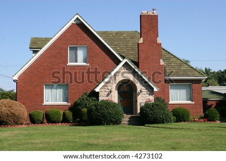 Cottage Style Colonial Home 2 - stock photo