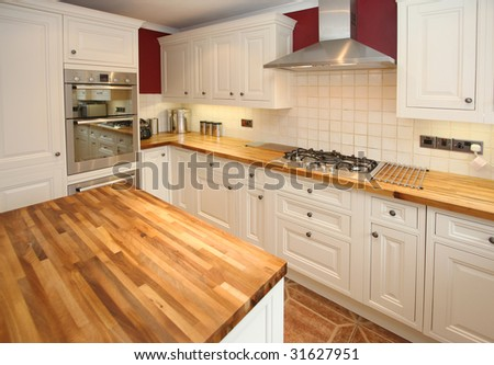Cottage-style kitchen - stock photo