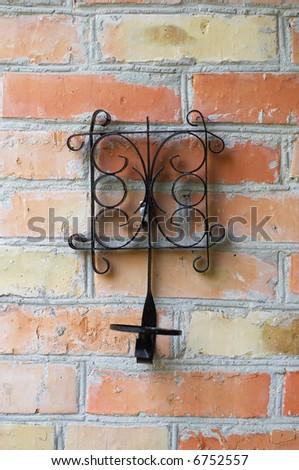cottage wall decoration - stock photo