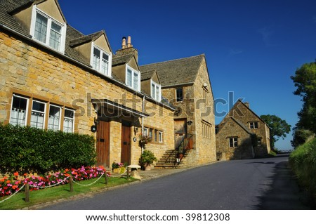 cottages at snowshill,cotswolds,england
