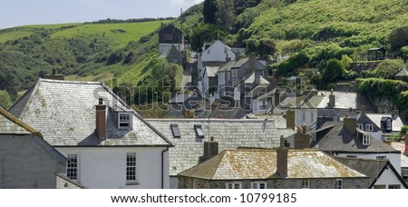 cottages port isaac cornwall england uk
