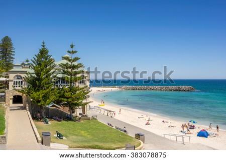 Cottesloe Beach in Perth Western Australia - stock photo
