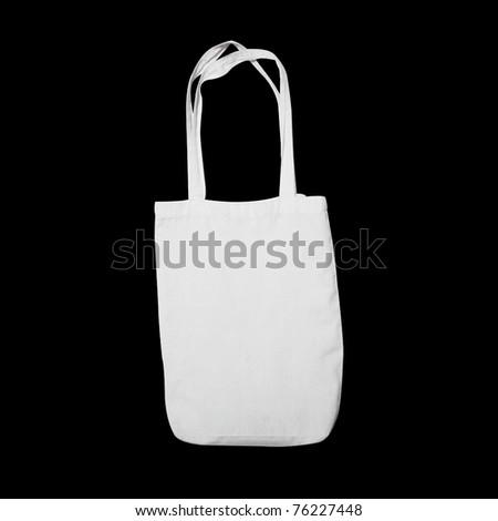 cotton bag - stock photo