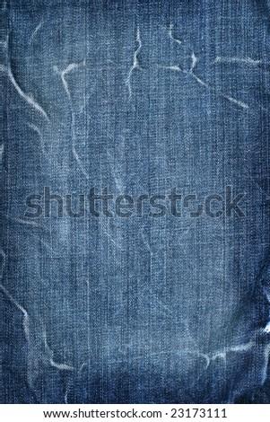Cotton blue jeans texture background - stock photo