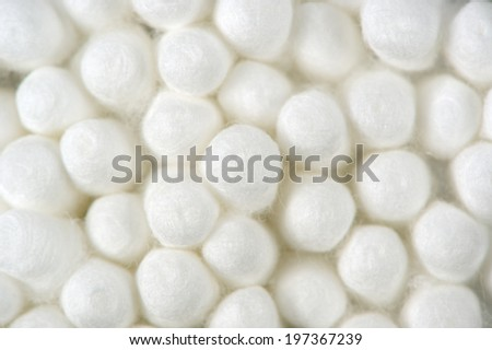 Cotton Buds (Swabs) Close-Up - stock photo