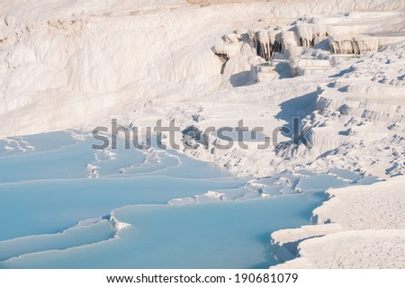 Cotton Castles or Pamukkale in Turkey