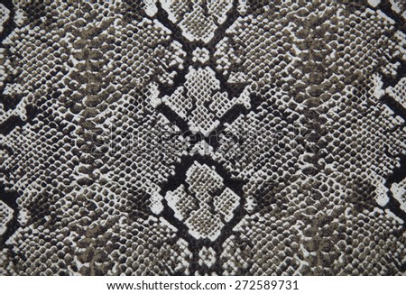 Cotton fabric with Snakeskin pattern for background or texture