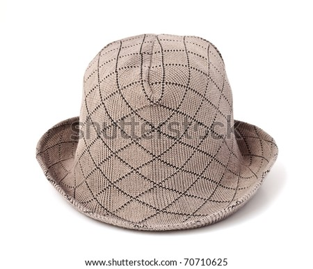 cotton hat isolated on white background
