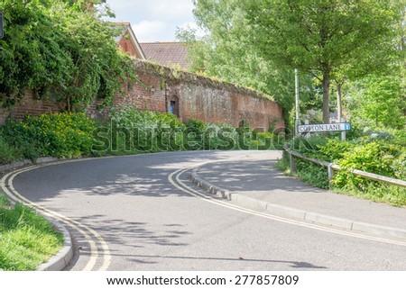 Cotton Lane in bury St Edmunds town centre, England - stock photo