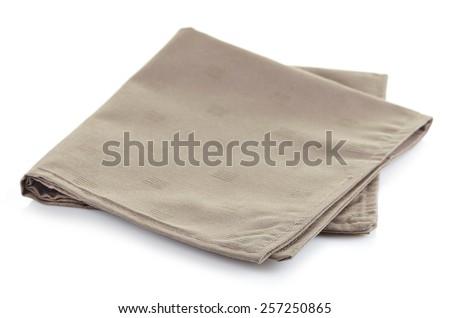 Cotton napkin isolated on white background - stock photo
