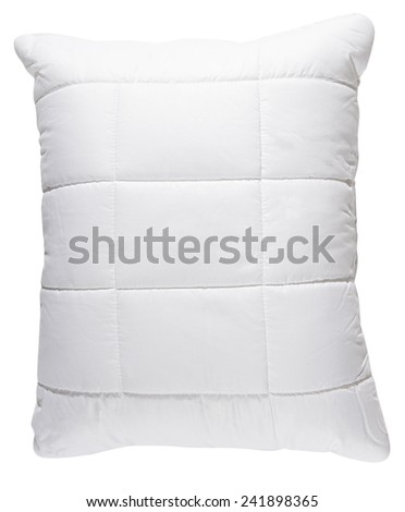 Cotton Pillow isolated on white background - stock photo