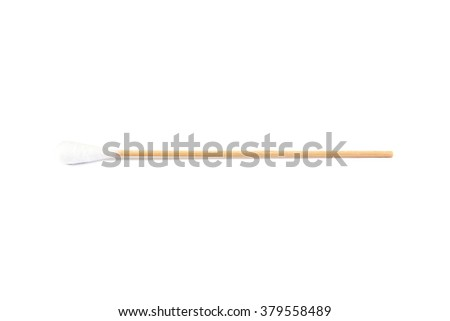 Cotton stick isolated on white background,Cotton bud - stock photo
