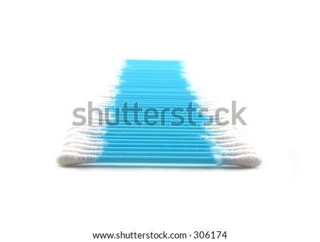 cotton sticks - stock photo