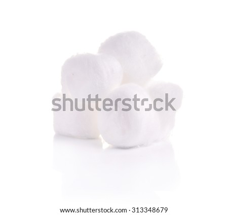 Cotton swabs isolated on white background - stock photo